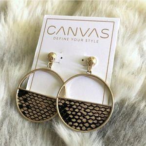 CANVAS Snake Demi Hoop Earrings  Stylish statement
